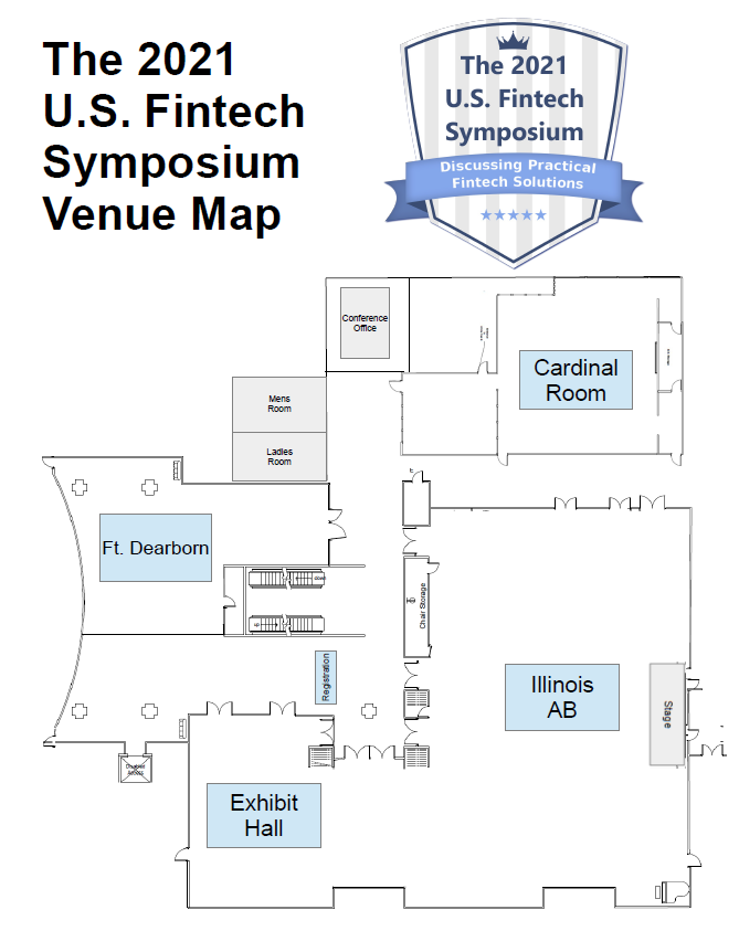 The 2021 US Fintech Symposium Floorplan